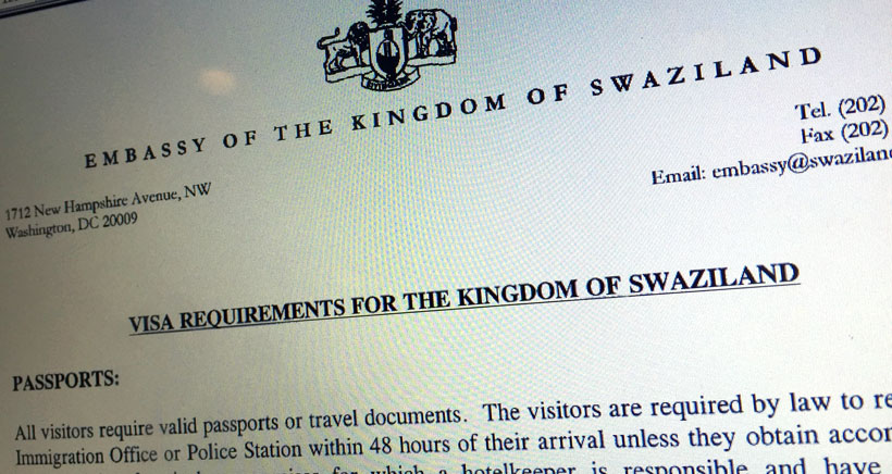 visa_swaziland