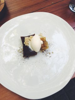 Coffee tamal, ginger ice cream, honeycomb, Pujol, Mexico City