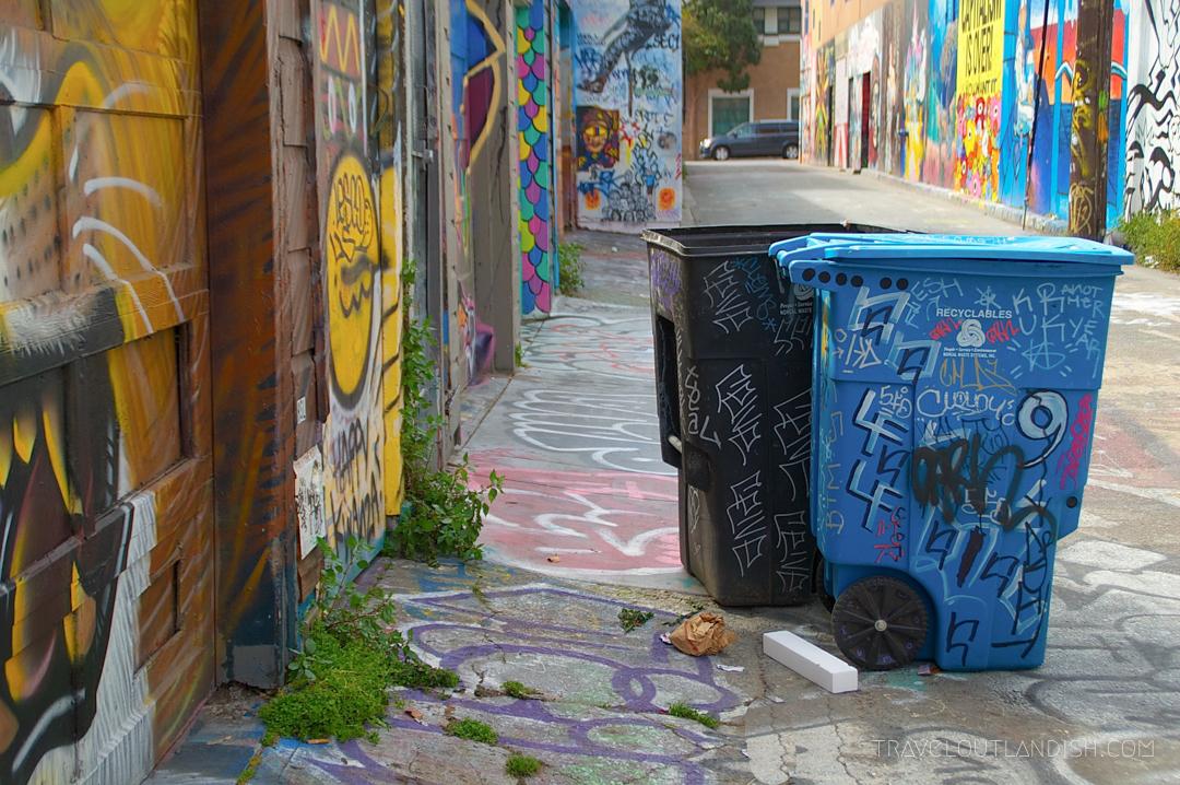San Francisco - Trash Bins in Clarion Alley