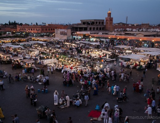Best Street Food Cities - View Across Djeema al Fna in Marrakech