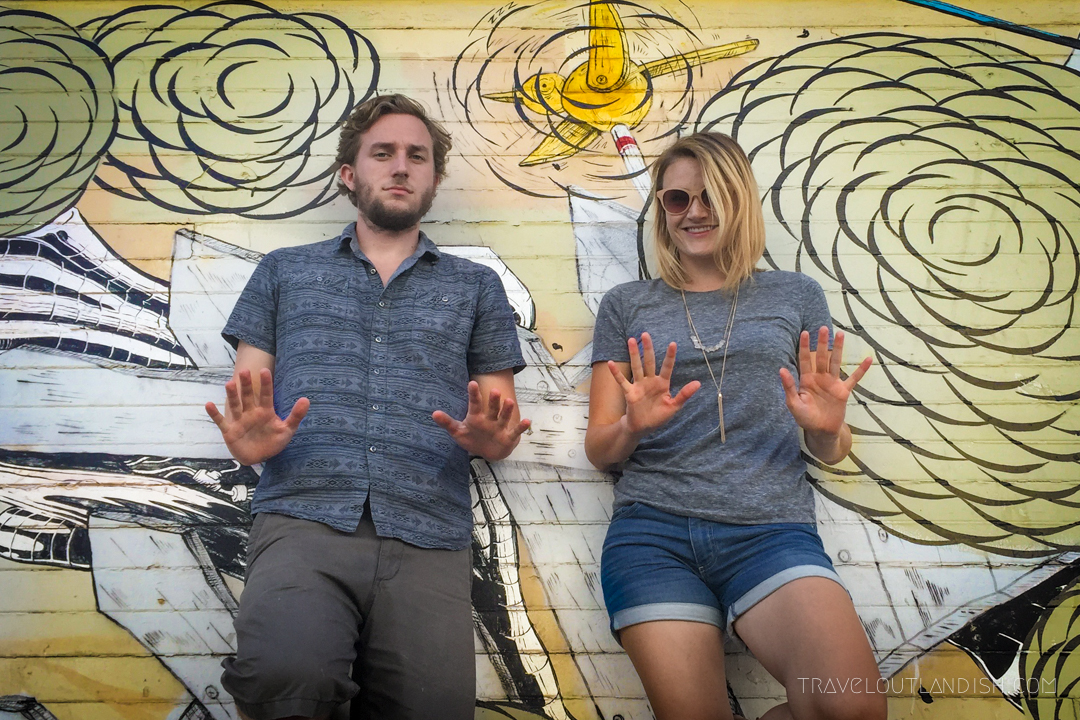 Taylor and Daniel with San Francisco Street Art