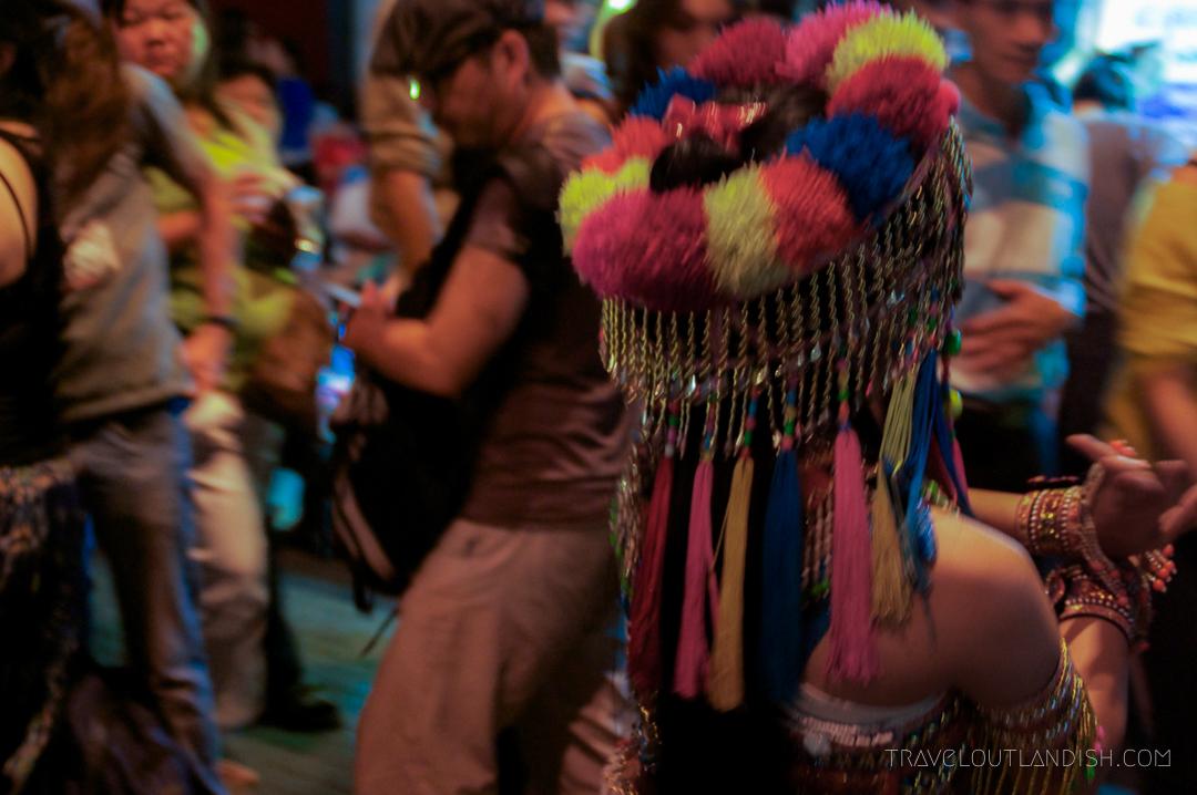 Fun Things to do in Chiang Mai - Girl dancing at Chiang Mai walking street