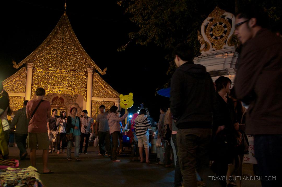 Fun Things to do in Chiang Mai - Temple at Chiang Mai Walking Street