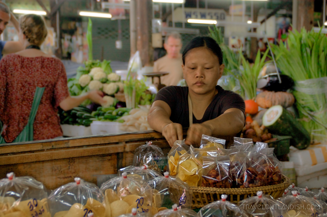 Fun Things to do in Chiang Mai - Woman selling vegetables in Chiang Mai