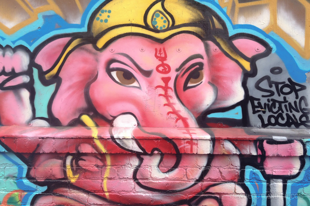 Pink Elephant Mural in Clarion Alley, San Francisco