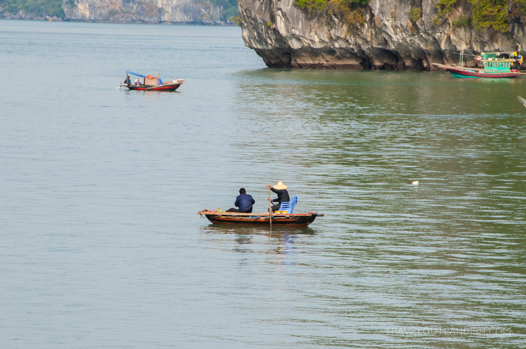 Halong Bay - Two Fisherman out for the day on Halong Bay