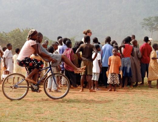 Ghana - Girls Riding a Bike