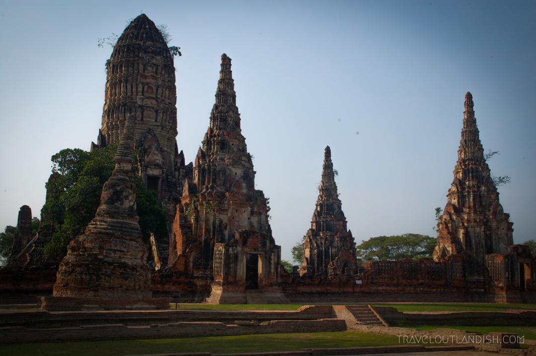 Temples of Ayutthaya at Sunrise