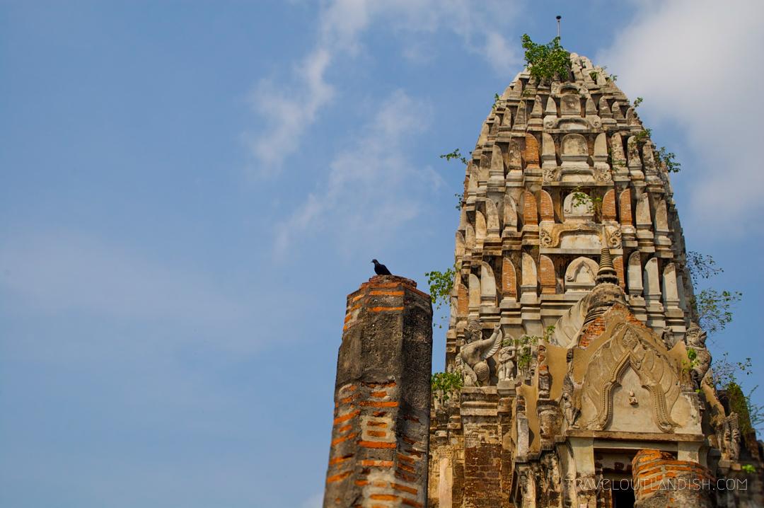 Looking up at Ayutthaya