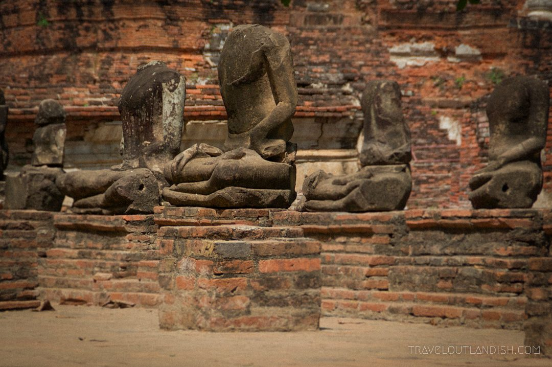 Sukothai vs Ayutthaya - Headless Buddhas at Ayutthaya