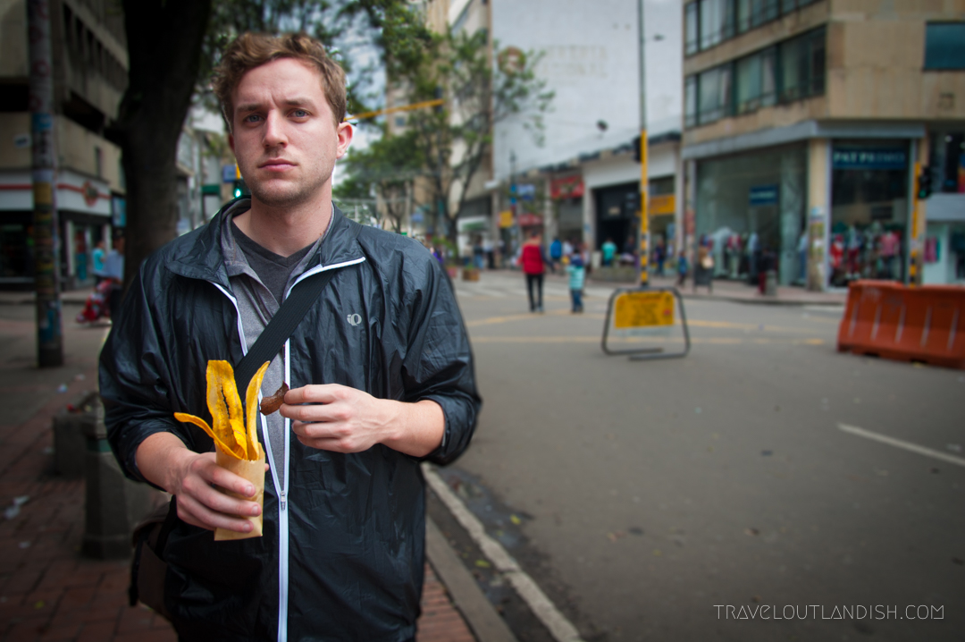 Daniel eating plantain chips