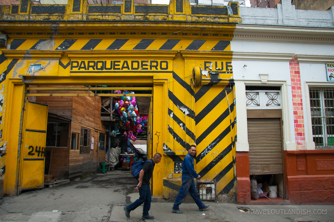 Colorful Parking Garage in Bogotá