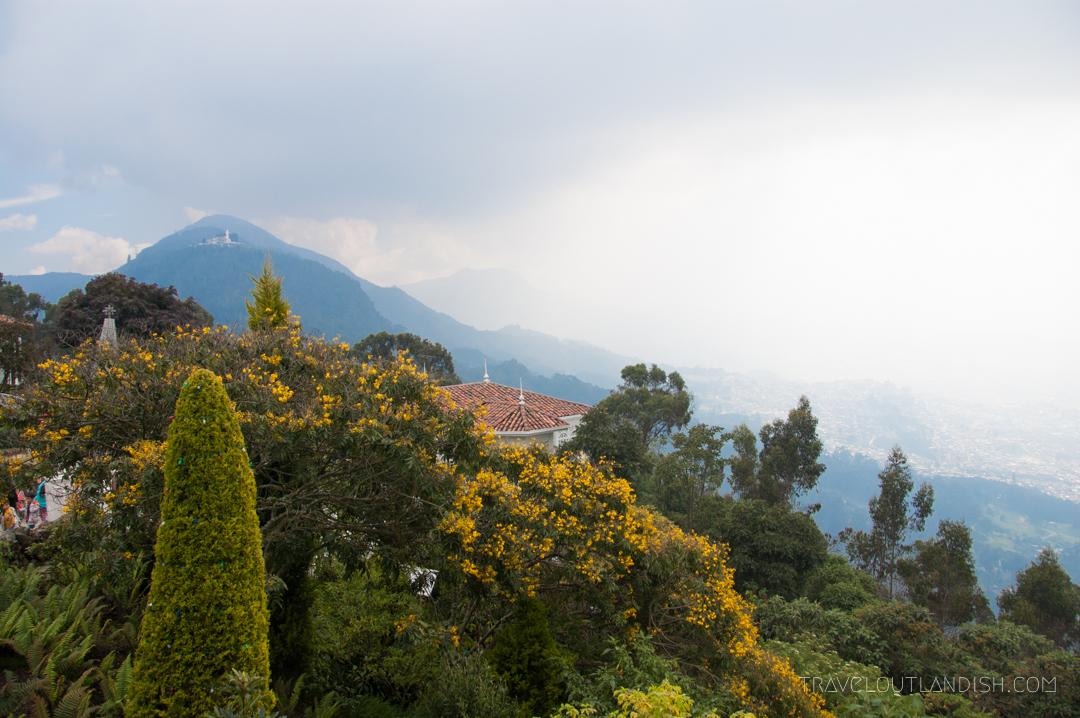View from El Teleferico de Montserrat in Bogotá