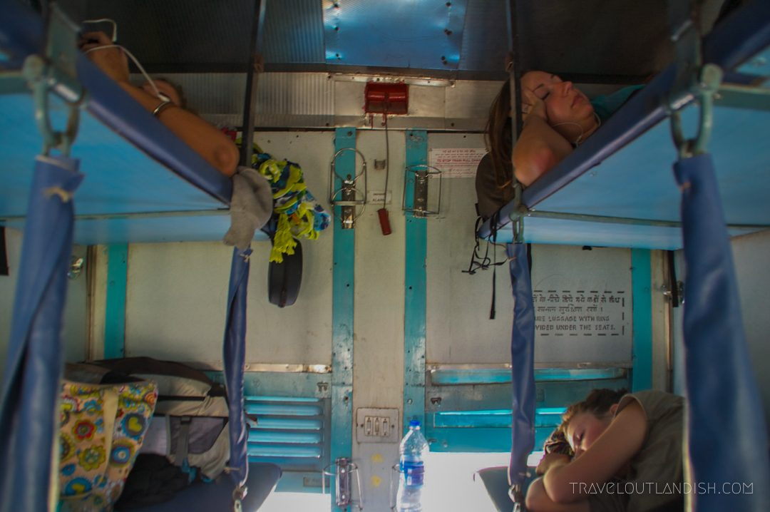 Bunks on an Indian Train