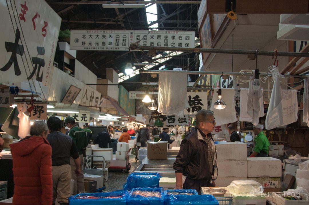 A Wide Look at Inside Tsukiji Market