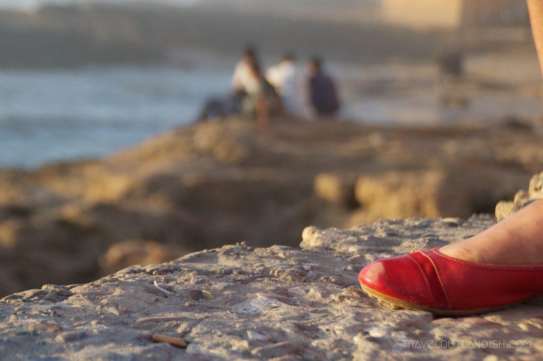 Woman's shoe in Essaouira