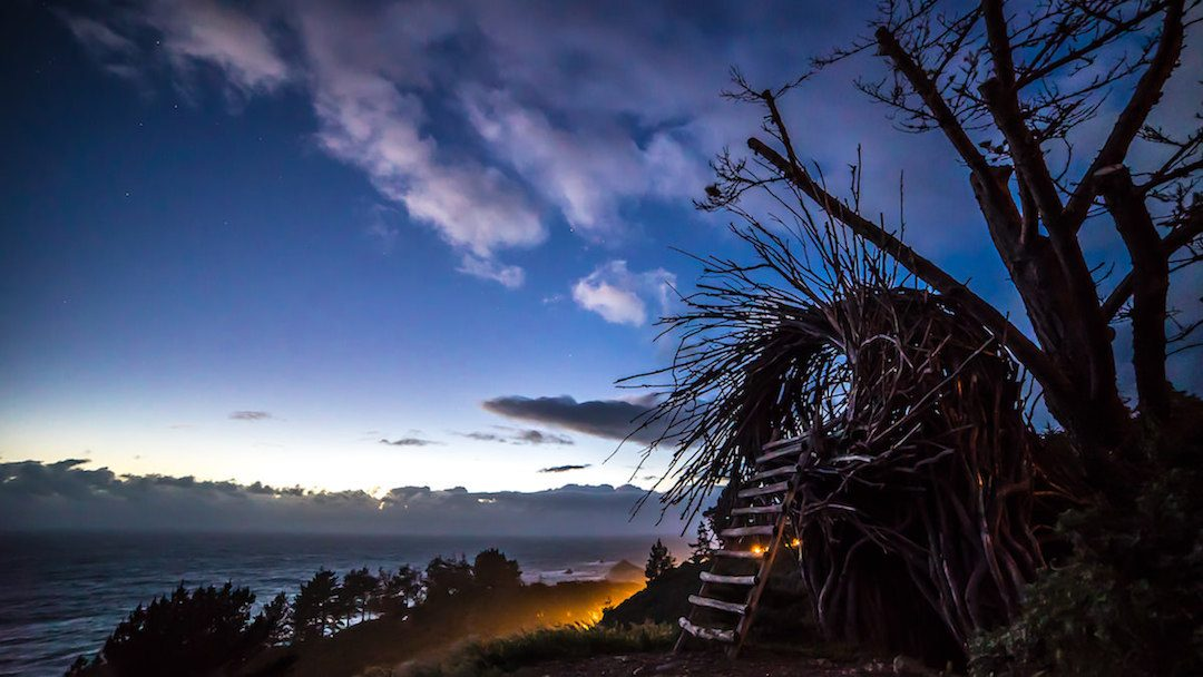 The Human Nest at Treebones Resort