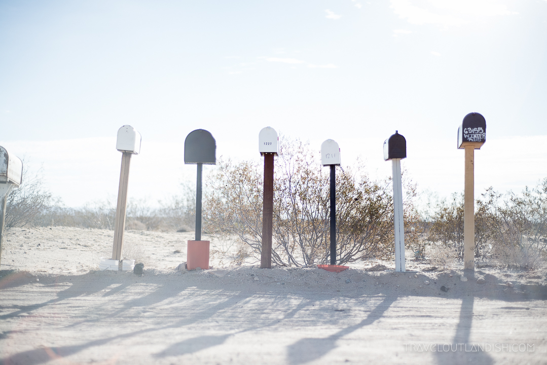 Things to do in Joshua Tree National Park - Mailboxes in Mojave Desert 2