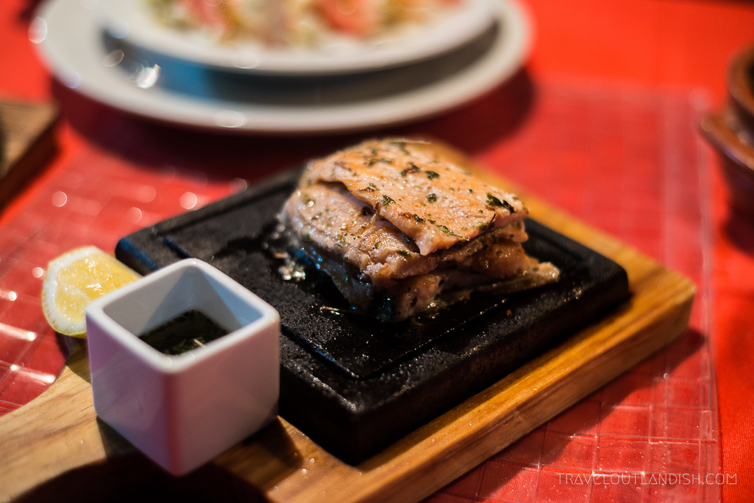 Trout Cooked on Volcanic Stone