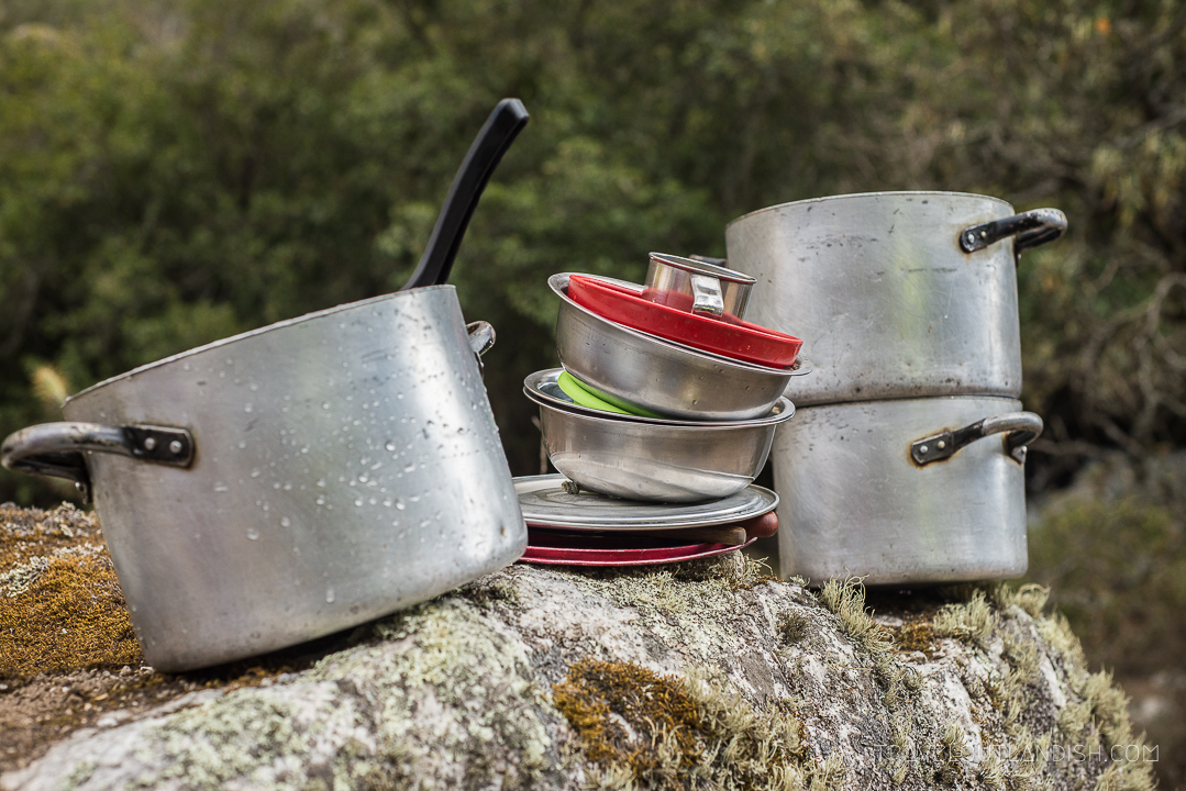 The Santa Cruz Trek - Cooking Equipment