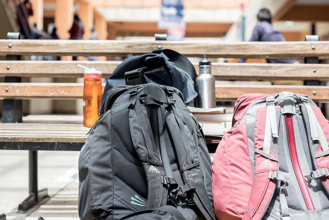 Bus Travel in South America - Bags at the Latacunga Bus Station