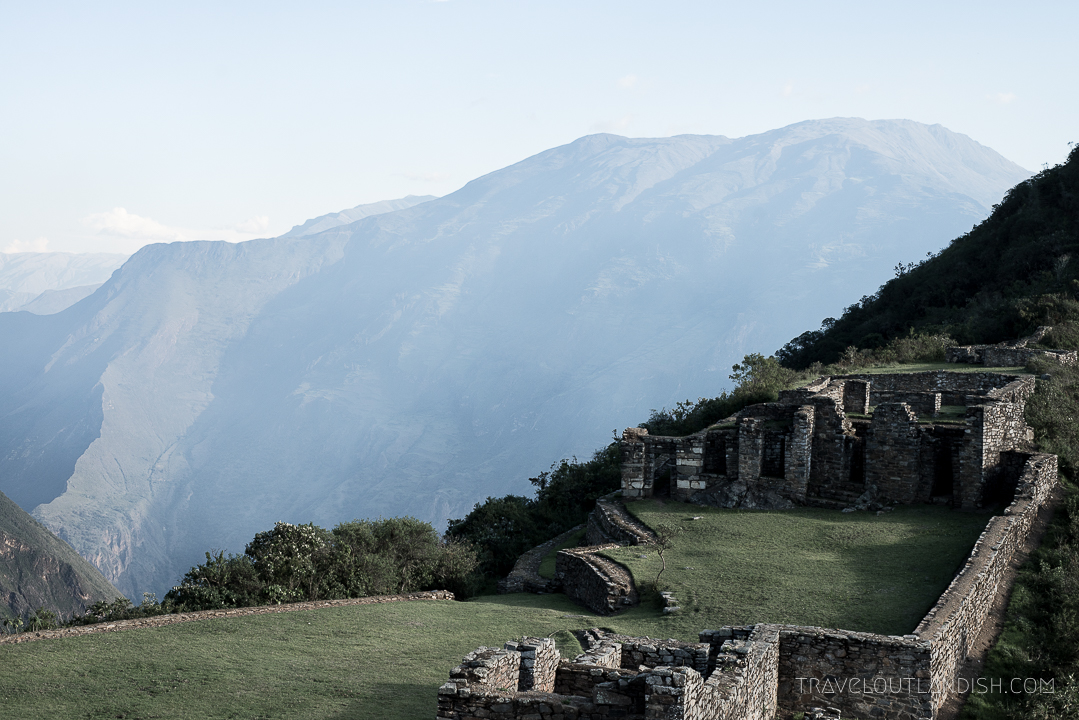 Looking out at the ruins of Choquequirao and across the Apurimac canyon