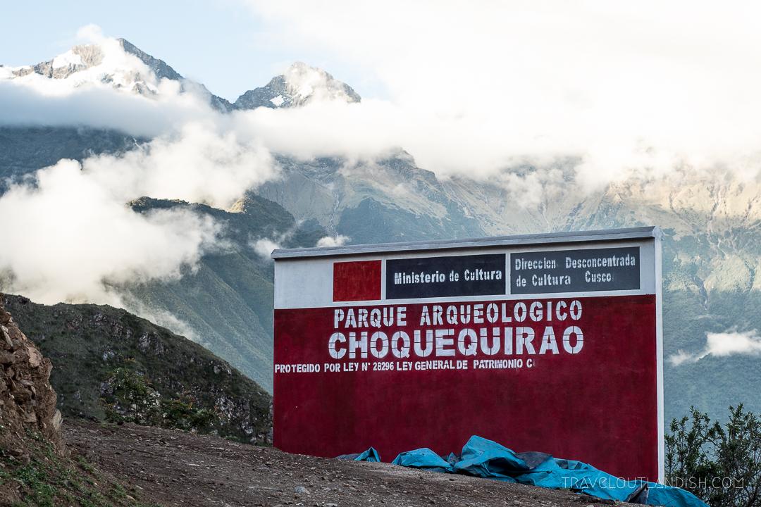 Choquequirao Ruins in Peru