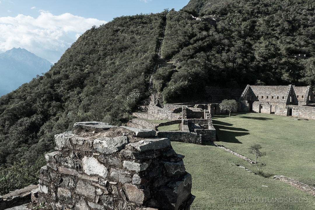 Choquequirao Ruins in Peru - View of the Plaza