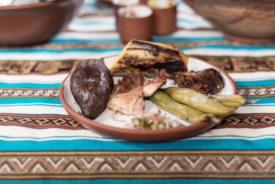 A Food Experience in Peru - Pachamanca Plate