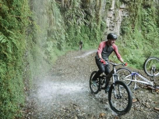 Death Road Bolivia - Daniel on his Bike