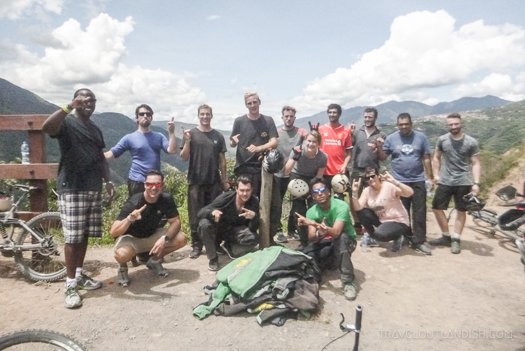 Death Road Bolivia - Group Photo at the end of the Ride