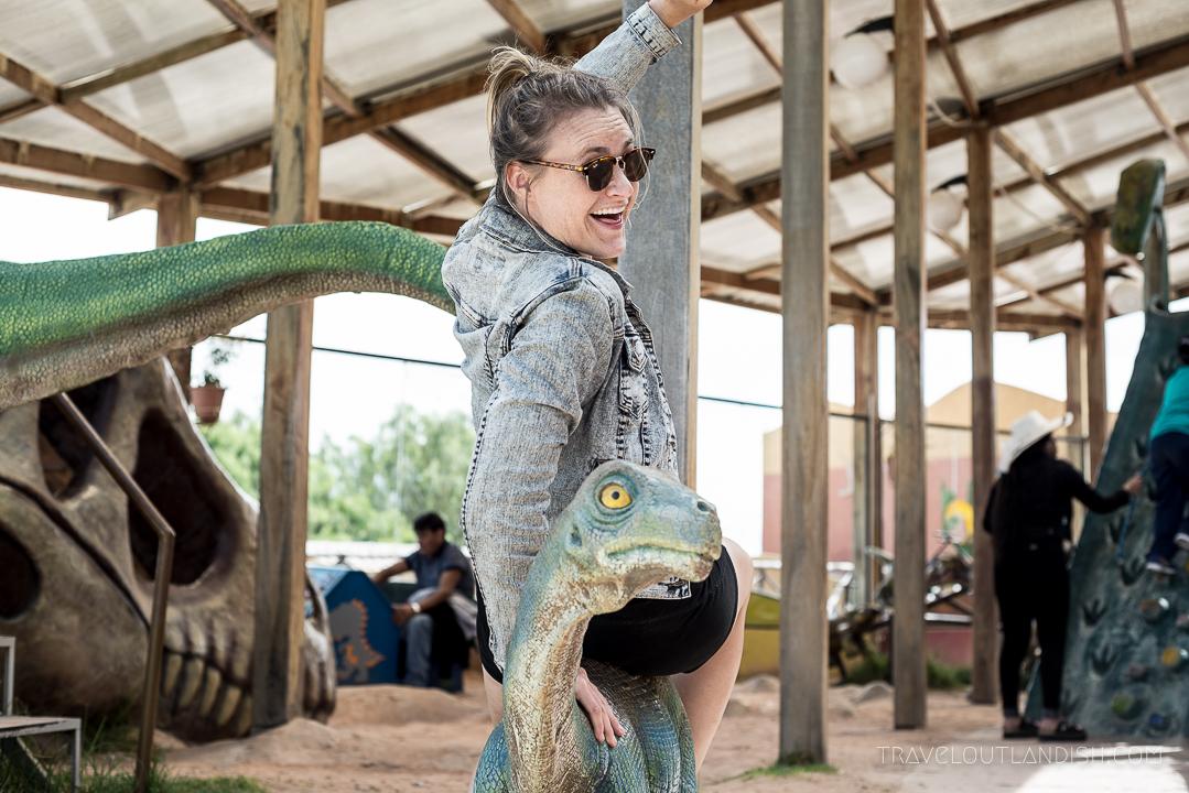 Dinosaur Dance Floor - Taylor Riding a Dinosaur