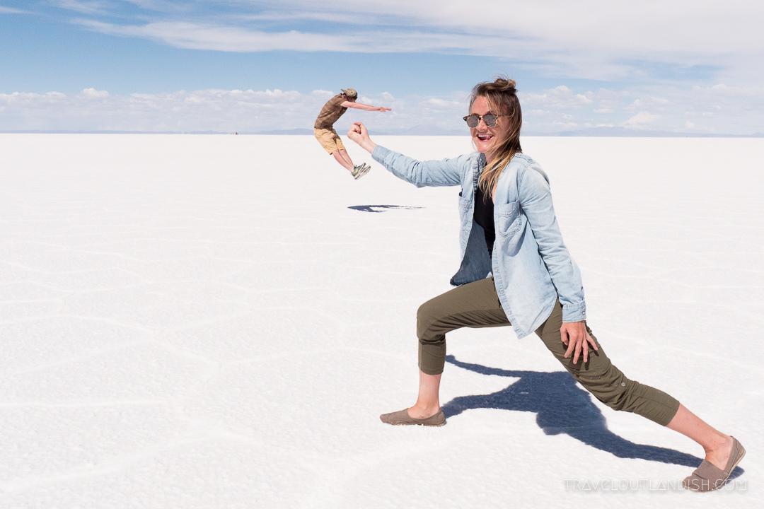 On the Salar de Uyuni on our 3-day Salt Flats Tour