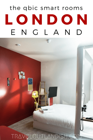 Looking for a unique hotel in London? Check out the smart rooms at Qbic London! #sponsored by Qbic