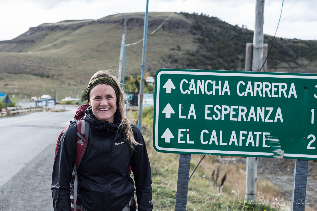 Hitchhiking in Argentina - Waiting for a ride in Rio Turbio