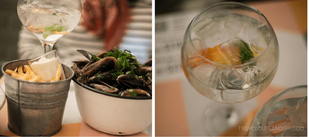 Restaurants in Cascais - Mussels & Gin