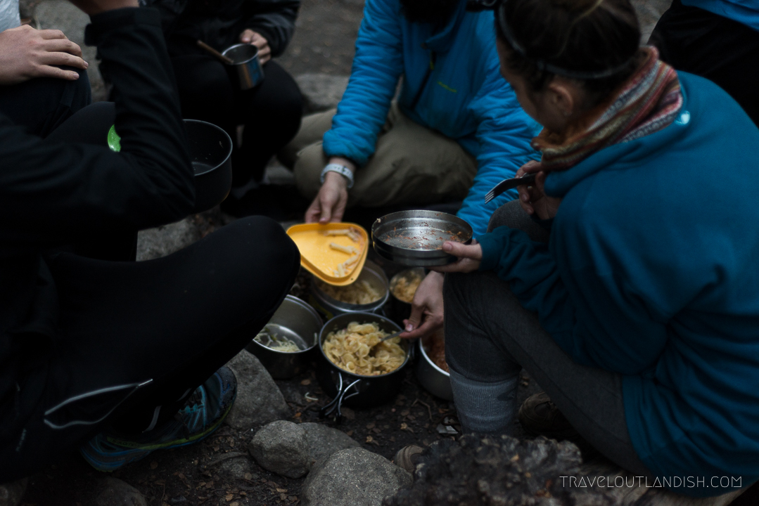 Campfire Picnic in Torres del Paine