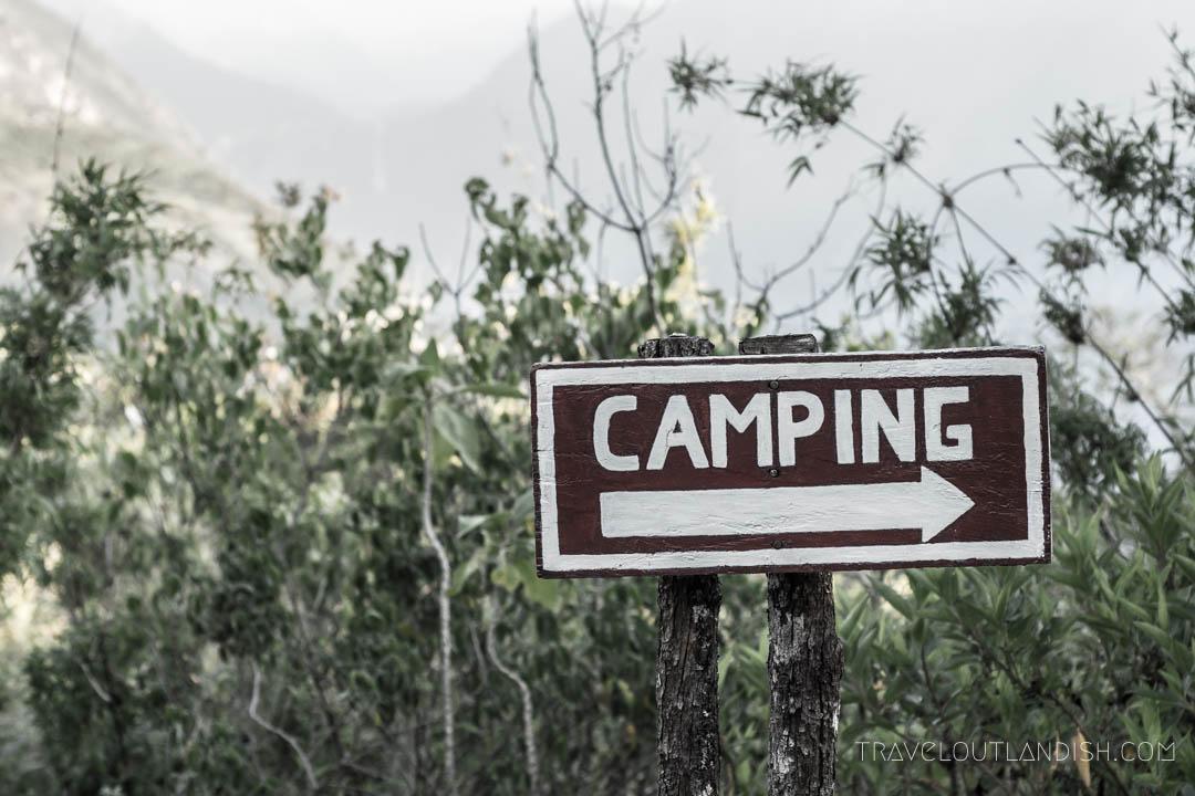 Gear Rental in Cusco - Campsite on Choquequirao Trek