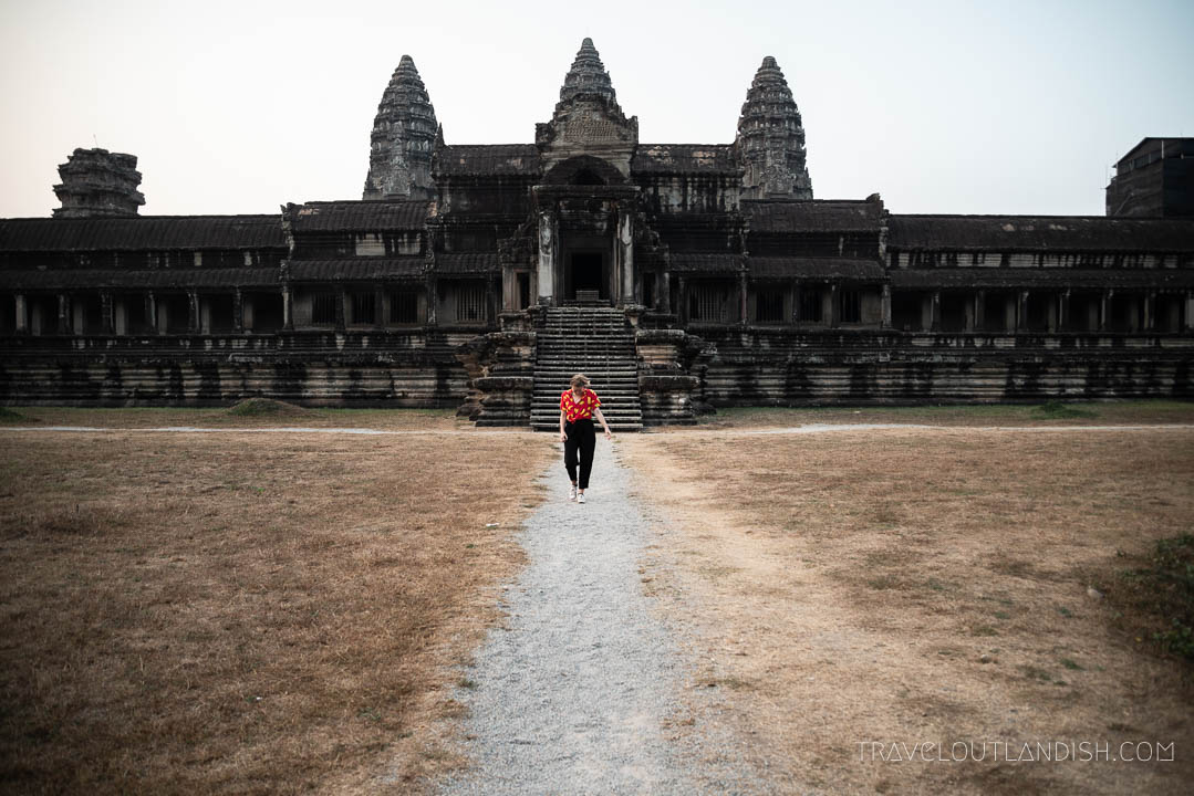 Is Angkor Wat Overrated? - Side Entrance at Sunrise