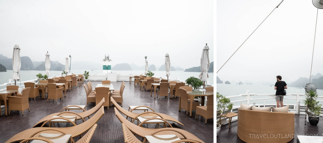 Top Deck of Au Co Luxury Halong Bay Cruise