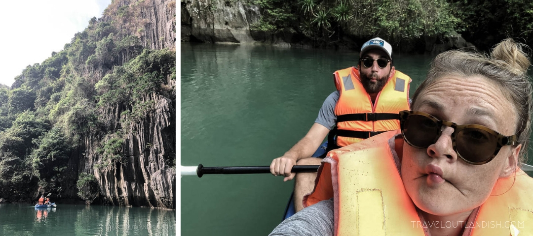 Kayaking on Halong Bay with Bhaya Cruises