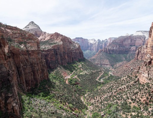 View of Zion Canyon from Canyon Overlook