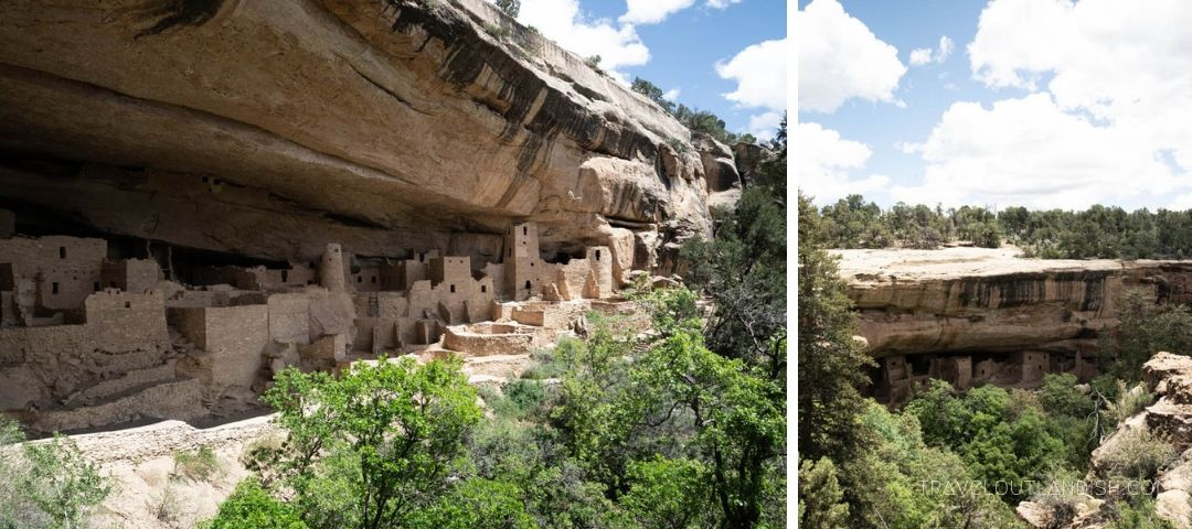 Approaching the Cliff Palace at Mesa Verde National Park on a Balcony House tour
