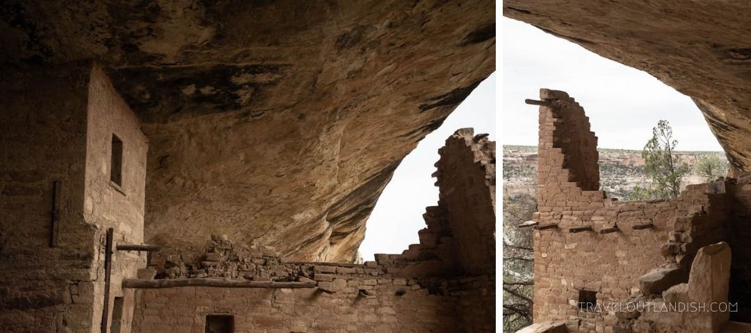 Close up of Balcony House at Mesa Verde National Park
