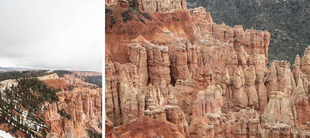 View of Hoodoos from Fairyland Point (Collage)
