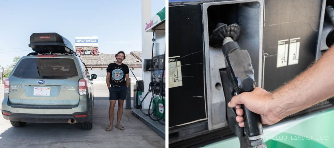Be sure to fill up with gas whenever you get a chance.