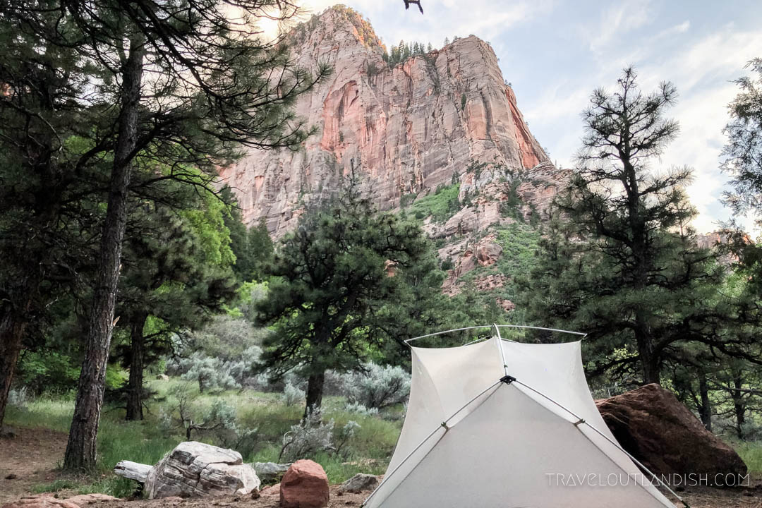 La Verkin Campsite on the Zion Traverse