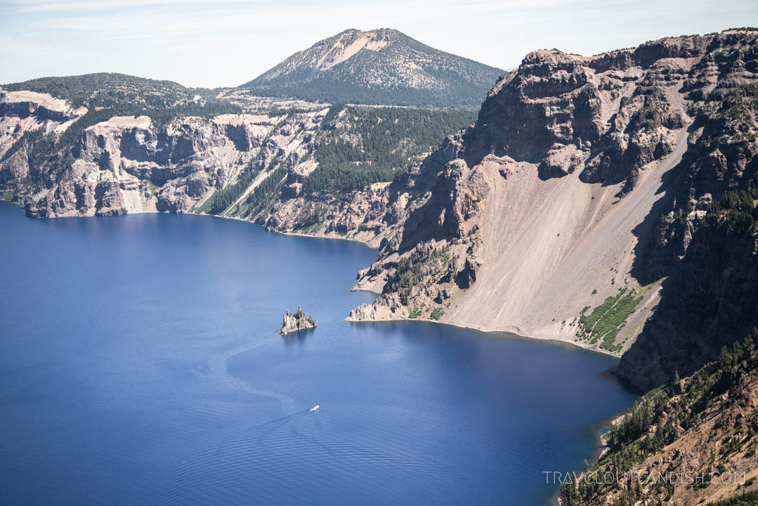 Boat Tour on Crater Lake circles Phantom Island