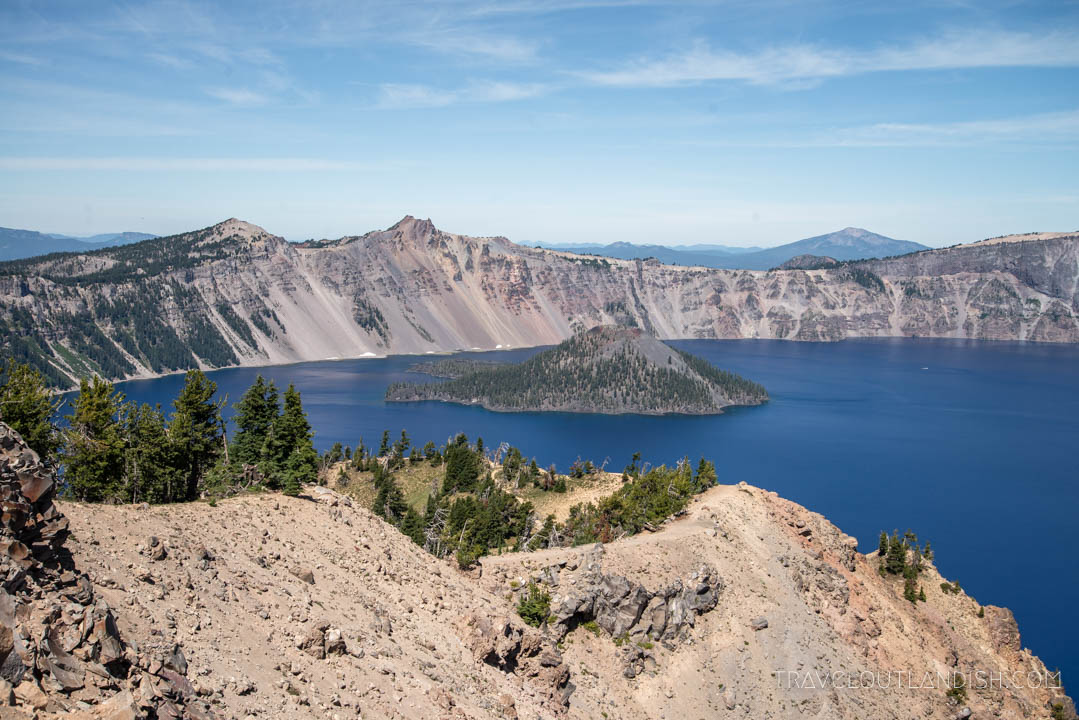 Looking down at Crater Lake from Garfield Peak