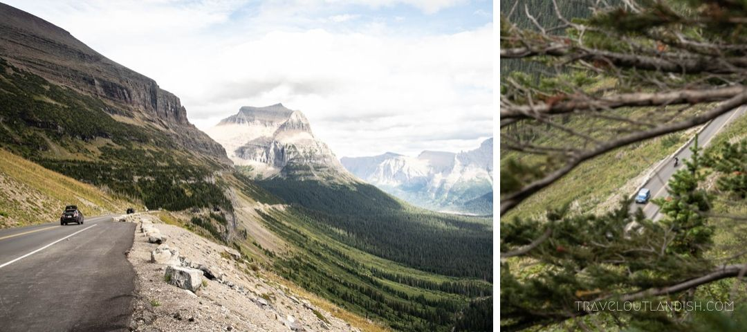 Shots from the Going-to-the-Sun Road Scenic Drive in Glacier
